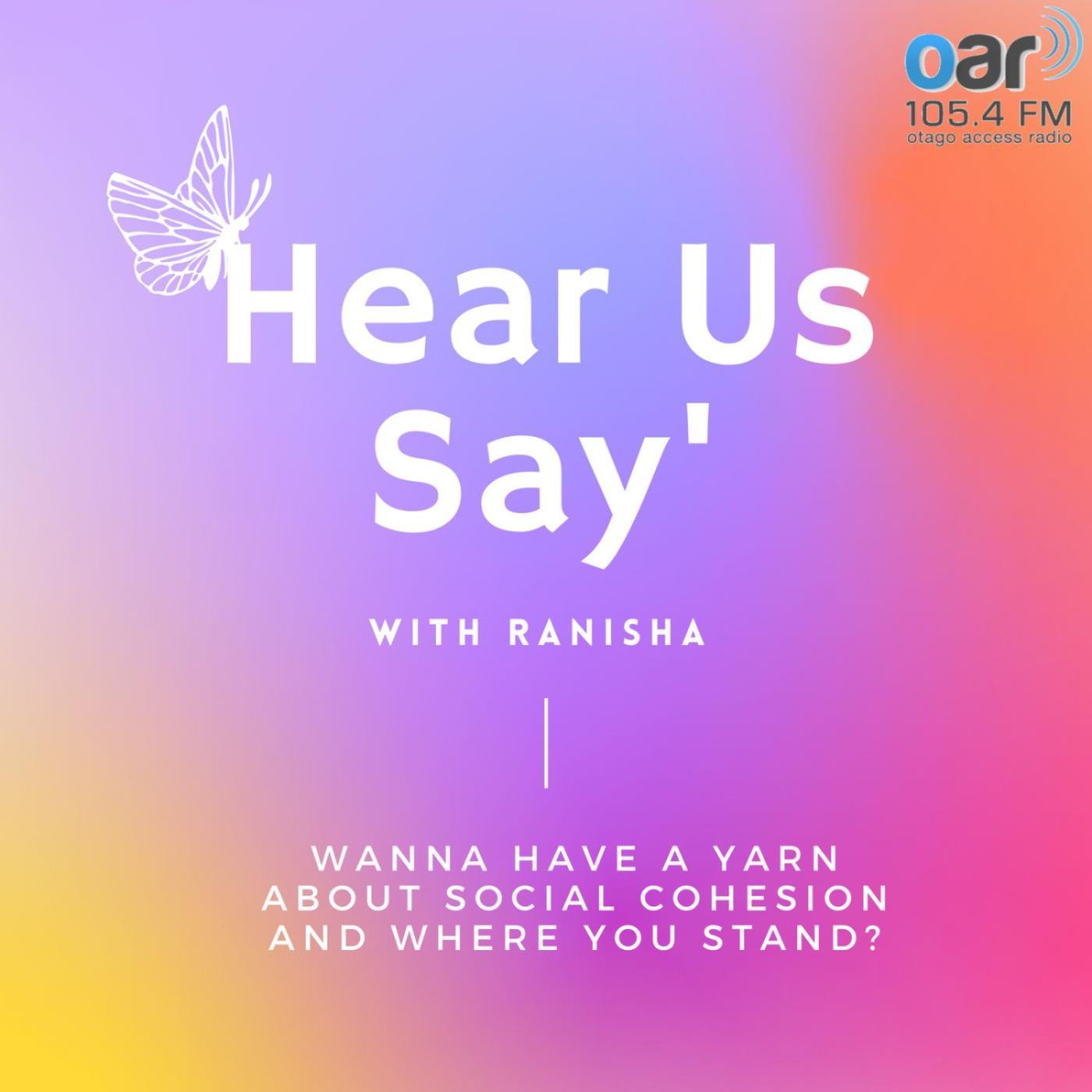 Hear Us Say with Ranisha on Youth Zone